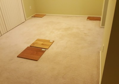 Carpet floor before