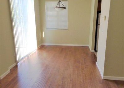 Hardwood floor after
